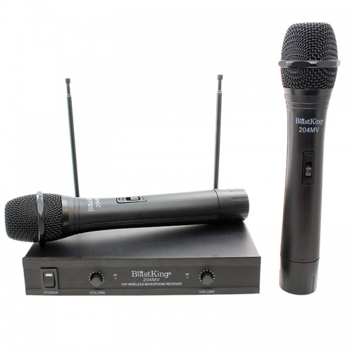 Dual Handheld Wireless Microphone System - 204MV