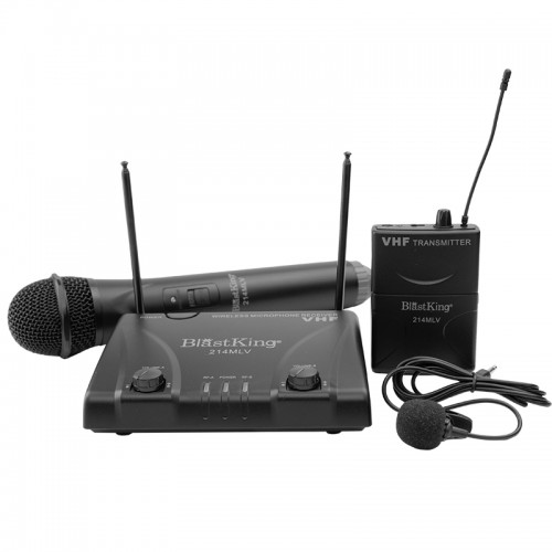 Dual Channel Wireless Microphone System - 214MLV