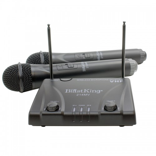 Dual Channel Wireless Microphone System - 214MV