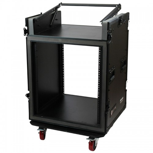 12U Vertical with 10U Slant Top Shock-mount Combo Rack - ARW12UM