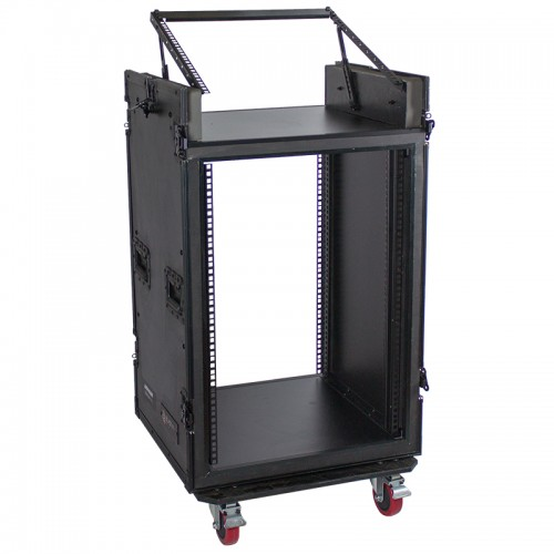 16U Vertical with 10U Slant Top Shock-mount Combo Rack - ARW16UM