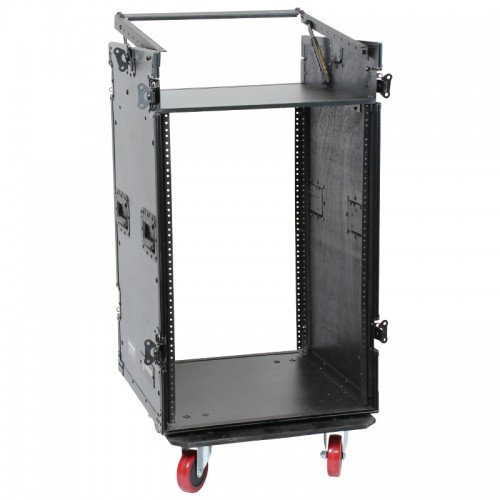 16U Vertical with 10U Slant Top Combo Rack - ARW16UME