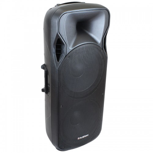 "Dual 15"" Active 1500 Watts Loudspeaker w/Media Player - BDS215A-BT"