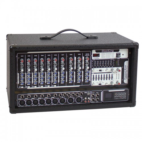500 Watts 10 Channel Powered Mixer with Effects - BPOD1062-PLUS