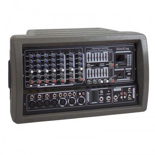 400 Watts 7 Channel Powered Mixer - BPOD740PRO
