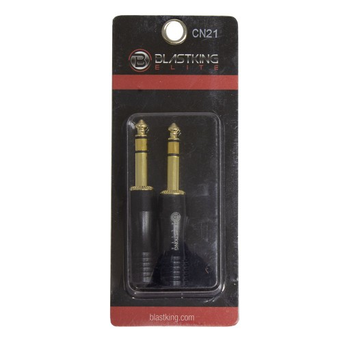 1/4 inch Stereo Male Plug Gold Plated / Pair - CN21