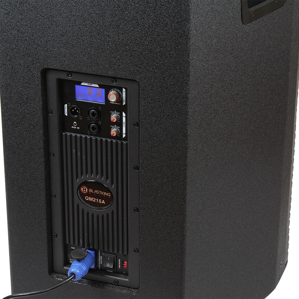 """Dual 15"""" 1200 Watts Professional Loudspeaker with Built-in DSP - QM215A"""