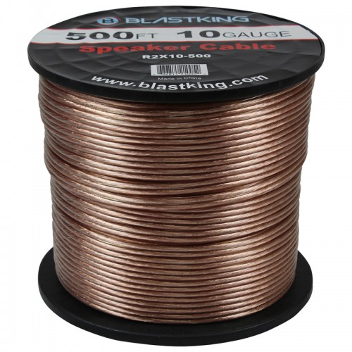 10 AWG 2-Conductor Speaker Cable 500 Ft - R2X10-500