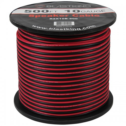 10 AWG 2-Conductor Speaker Cable 500 Ft - R2X10B-500