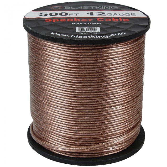 12 AWG 2-Conductor Speaker Cable 500 Ft - R2X12-500