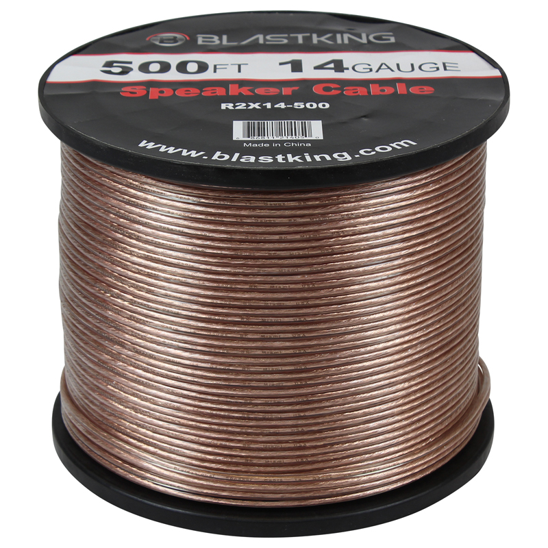 14 AWG 2-Conductor Speaker Cable 500 Ft – R2X14-500 – Blastking