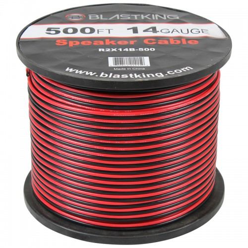 14 AWG 2-Conductor Speaker Cable 500 Ft - R2X14B-500