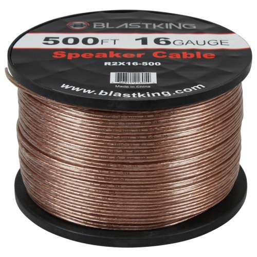 16 AWG 2-Conductor Speaker Cable 500 Ft - R2X16-500