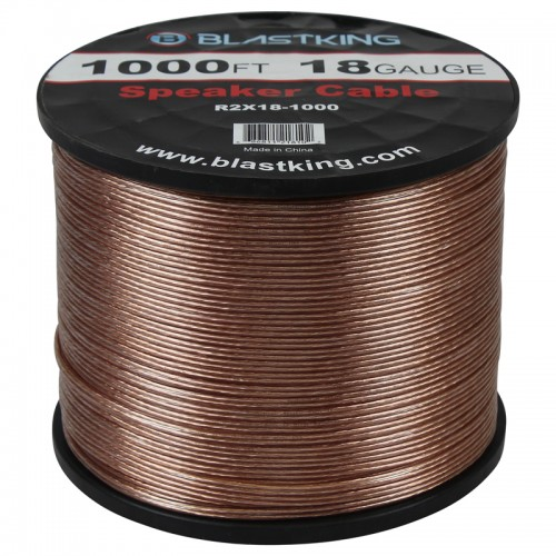 18 AWG 2-Conductor Speaker Cable 1000 Ft - R2X18-1000