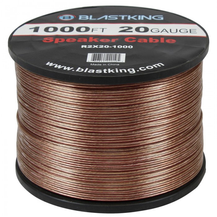 20 AWG 2-Conductor Speaker Cable 1000 Ft - R2X20-1000