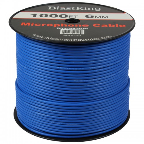 24 AWG 2-Conductor Microphone Cable 1000 Ft Blue - RMCS426BL