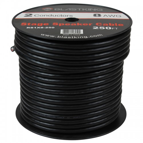 8 AWG 2-Conductor Speaker Cable 250 Ft - RS1X8-250