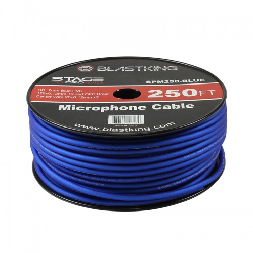 2-Conductor OFC Microphone Cable 250 Ft Blue - SPM250-BLUE