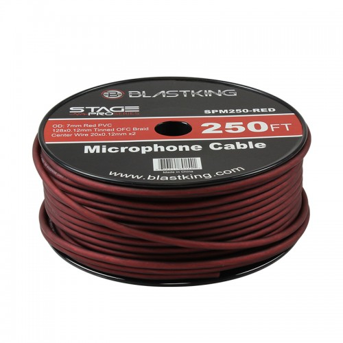 2-Conductor OFC Microphone Cable 250 Ft Red - SPM250-RED